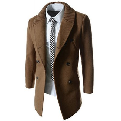 Knitted Lapel PU Leather Spliced Multi-Button Slimming Long Sleeves Mens Woolen Blend Thicken PeacoatMens Jakets &amp; Coats<br>Knitted Lapel PU Leather Spliced Multi-Button Slimming Long Sleeves Mens Woolen Blend Thicken Peacoat<br><br>Clothes Type: Wool &amp; Blends<br>Material: Cotton,Wool<br>Collar: Turn-down Collar<br>Clothing Length: Regular<br>Style: Fashion<br>Weight: 0.850KG<br>Sleeve Length: Long Sleeves<br>Season: Winter<br>Package Contents: 1 x Coat
