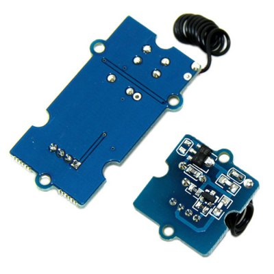 Seeedstudio 433MHz RF Transmitter with Receiver Module KitSensors<br>Seeedstudio 433MHz RF Transmitter with Receiver Module Kit<br><br>Brand: Seeedstudio<br>Type: Transmitters and Receivers Module<br>Transmission Type: Infrared<br>Compatibility: Ardunio<br>Product Weight: 0.011 kg<br>Package Weight: 0.065 kg<br>Product Size(L x W x H): 4.5 x 2.5 x 1.5 cm / 1.77 x 0.98 x 0.59 inches<br>Package Size(L x W x H): 9 x 6 x 2 cm / 3.54 x 2.36 x 0.79 inches<br>Package Contents: 1 x Transmitter Module, 1 x Receiver Module