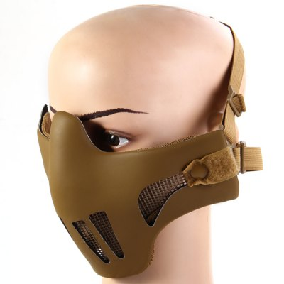 Durable Iron Wire Mesh Half Face Airsoft MaskOther Camping Gadgets<br>Durable Iron Wire Mesh Half Face Airsoft Mask<br><br>Color: Black, Sand Color<br>Product weight   : 0.148 kg<br>Package weight   : 0.190 kg<br>Product size (L x W x H)   : 22 x 15 x 7.5 cm / 8.65 x 5.90 x 2.95 inches<br>Package size (L x W x H)  : 24 x 16.5 x 9 cm / 9.43 x 6.48 x 3.54 inches<br>Package Contents: 1 x Half Face Mask