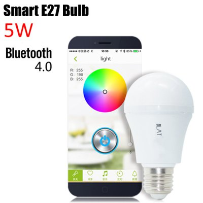 ФОТО iLAT E27 Smart Bluetooth 4.0 Music LED Bulb