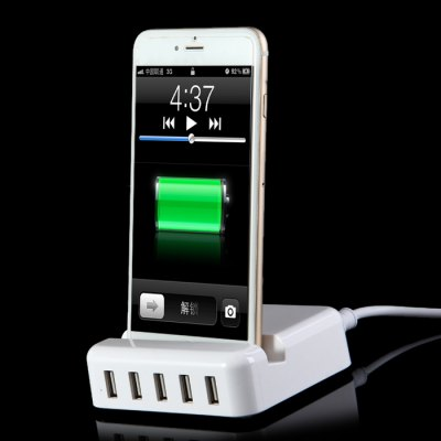 ФОТО 30W High Power Charging Dock Base with 5 USB Outlet for iPhone 5S 6S / 6 Plus iPad Air Samsung S6 / S6 Edge Note 5 etc.