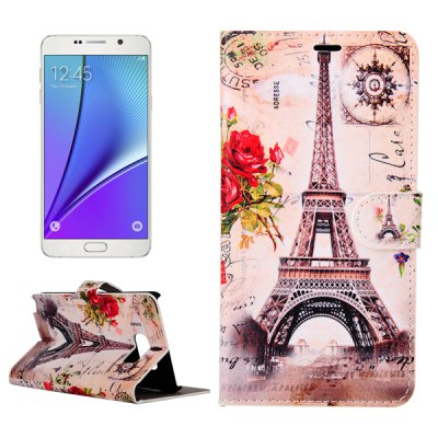 ENKAY Artificial Leather Flap Cover Case for Samsung Galaxy Note 5 N9200