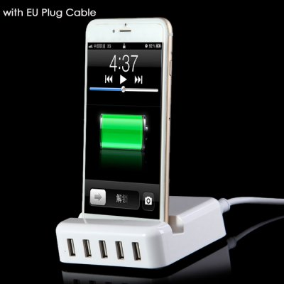 30W High Power Charging Dock Base with 5 USB Port for iPhone 5S 6S / 6 Plus iPad Air Samsung S6 / S6 Edge Note 5 etc.