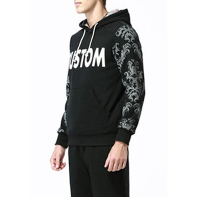 Гаджет   Modish Slimming Hooded Plants and Letters Print Long Sleeve Cotton Blend Hoodie For Men Hoodies