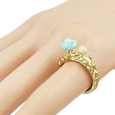 Chic Mushroom Decorated Finger Ring For Women