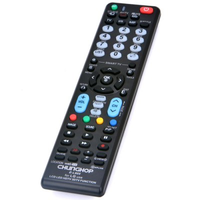 CHUNGHOP E - L905 Remote ControllerAir Mouse<br>CHUNGHOP E - L905 Remote Controller<br><br>Brand: CHUNGHOP<br>Model: E - L905<br>Type: Remote Controller<br>Color: Black<br>Power Supply: 2 x AAA Battery<br>Product Weight: 0.070 kg<br>Package Weight: 0.125 kg<br>Product Size (L x W x H): 19 x 4 x 2 cm / 7.47 x 1.57 x 0.79 inches<br>Package Size (L x W x H): 19.6 x 4.7 x 2.1 cm / 7.70 x 1.85 x 0.83 inches<br>Package Contents: 1 x E - L905 Universal Remote Controller