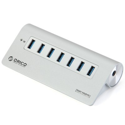 ORICO M3H7 Aluminum 7 Ports USB 3.0 HUB with Power Adapter for Macbook Notebook PC Laptop