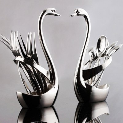 Stainless Steel Swan Western Tableware