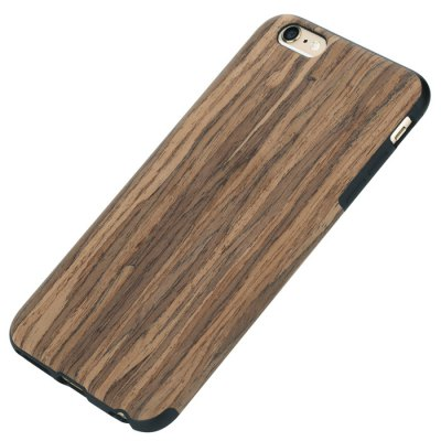 Rock Wood and TPU Material Stylish Wood Grain Protective Back Cover Case for iPhone 6S / 6S Plus pokemon go quiz embossing hybrid acrylic tpu protective cover for iphone 6s 6 jigglypuff