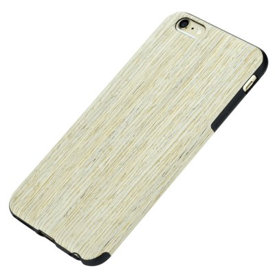 ФОТО Rock Wood and TPU Material Stylish Wood Grain Protective Back Cover Case for iPhone 6S / 6S Plus