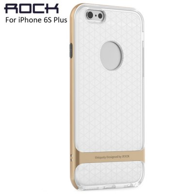 Rock Transparent TPU and Plastic Material Phone Protective Back Cover Case for iPhone 6S / 6S Plus