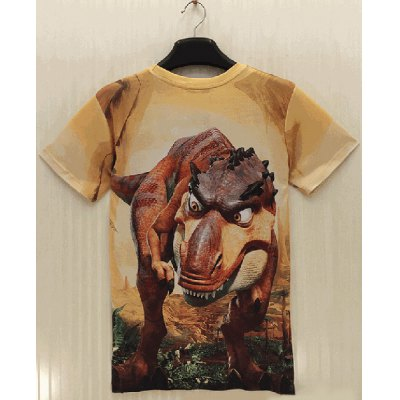 Slimming Round Neck 3D Cartoon Dinosaur Print Short Sleeve Mens T-ShirtMens Short Sleeve Tees<br>Slimming Round Neck 3D Cartoon Dinosaur Print Short Sleeve Mens T-Shirt<br><br>Material: Polyester, Cotton<br>Sleeve Length: Short<br>Collar: Round Neck<br>Style: Fashion<br>Weight: 0.215KG<br>Package Contents: 1 x T-Shirt<br>Pattern Type: Animal