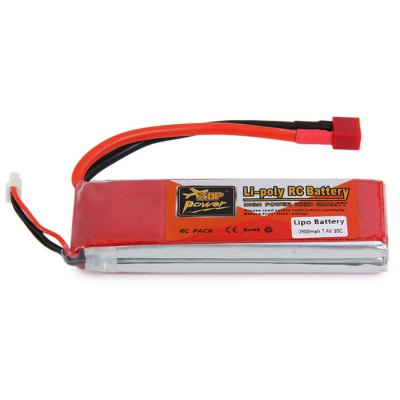 ZOP Power 7.4V 2800mAh 30C T Plug Lipo Battery