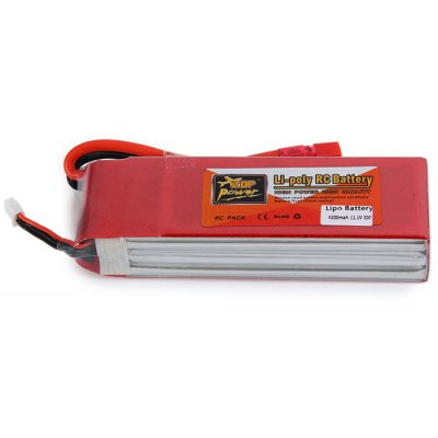 ZOP Power 11.1V 4200mAh 30C T Plug Lipo Battery for RC Helicopter