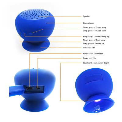 KB-04 Mini Practical Wireless Bluetooth V3.0 Rechargeable Speaker Supports Hands-free Calls