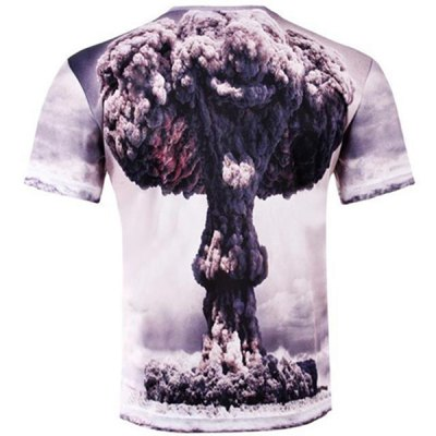 Stylish Slimming Round Neck 3D Mushroom Cloud Pattern Short Sleeve Cotton Blend T-Shirt For MenMens Short Sleeve Tees<br>Stylish Slimming Round Neck 3D Mushroom Cloud Pattern Short Sleeve Cotton Blend T-Shirt For Men<br><br>Material: Cotton,Polyester<br>Sleeve Length: Short<br>Collar: Round Neck<br>Style: Fashion<br>Weight: 0.235KG<br>Package Contents: 1 x T-Shirt<br>Embellishment: 3D Print<br>Pattern Type: Others