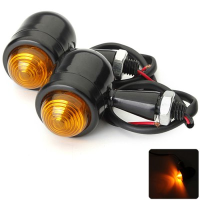 2PCS 10W Mini Turn Signal Front Rear Lamp Bulb for Harley Motorcycle