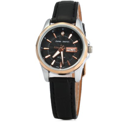 Jonas Jasmin 2049L Female Japan Quartz WatchWomens Watches<br>Jonas Jasmin 2049L Female Japan Quartz Watch<br><br>Brand: Jonas Jasmin<br>Watches categories: Female table<br>Available color: Gold and Brown, Black, Brown, Gold and Black<br>Style : Fashion&amp;Casual<br>Movement type: Quartz watch<br>Shape of the dial: Round<br>Display type: Analog<br>Case material: Stainless steel<br>Band material: Leather<br>Clasp type: Pin buckle<br>Water resistance : 10 meters<br>Special features: Day, Date<br>The dial thickness: 0.9 cm / 0.35 inches<br>The dial diameter: 2.8 cm / 1.10 inches<br>The band width: 1.2 cm / 0.47 inches<br>Product weight: 0.026 kg<br>Package weight: 0.076 kg<br>Product size (L x W x H) : 22 x 2.8 x 0.9 cm / 8.65 x 1.10 x 0.35 inches<br>Package size (L x W x H): 23 x 3.8 x 1.9 cm / 9.04 x 1.49 x 0.75 inches<br>Package contents: 1 x Jonas Jasmin 2049L Watch