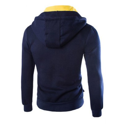 Гаджет   Fashion Slimming Hooded Faux Twinset Stereo Pockets Long Sleeve Fleece Hoodie For Men Hoodies
