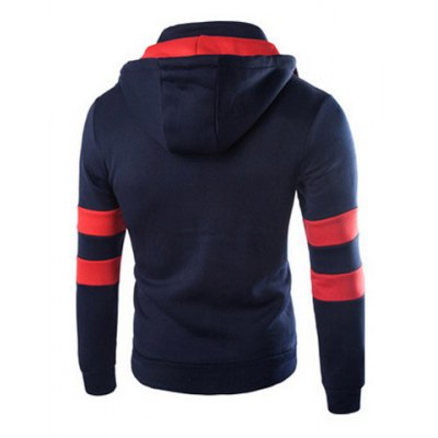 Trendy Slimming Hooded Color Block Splicing Faux Twinset Long Sleeve Fleece Hoodie For MenMens Hoodies &amp; Sweatshirts<br>Trendy Slimming Hooded Color Block Splicing Faux Twinset Long Sleeve Fleece Hoodie For Men<br><br>Material: Polyester<br>Fabric Type: Fleece<br>Clothing Length: Regular<br>Sleeve Length: Full<br>Style: Fashion<br>Weight: 0.85KG<br>Package Contents: 1 x Hoodie