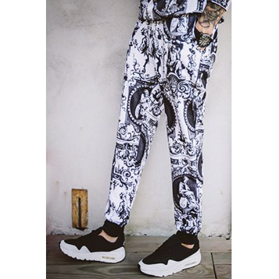Гаджет   Elastic Waist 3D Statue Pattern Beam Feet Slimming Men
