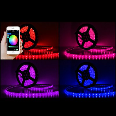 Smart WiFi Mobile Control LED Strip LightsSmart Lighting<br>Smart WiFi Mobile Control LED Strip Lights<br><br>Type: LED Strip<br>Features: IP-65,Waterproof<br>LED type: SMD-5050<br>Optional Light Color: RGB<br>Material: FPC,Silicone<br>Product weight: 0.120 kg<br>Package weight: 0.424 kg<br>Package size (L x W x H): 15.50 x 15.50 x 5.00 cm / 6.1 x 6.1 x 1.97 inches<br>Package Contents: 1 x LED Strip Light, 1 x English User Manual