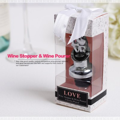 Decent Wine Pourer Stopper for Party Favors