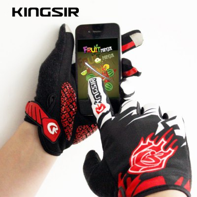 Гаджет   KINGSIR Touch Screen Cycling Finger Gloves Cycling Gloves