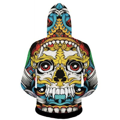 Fashion Slimming Hooded 3D Cartoon Skull Print Long Sleeve Cotton Blend Hoodie For MenMens Hoodies &amp; Sweatshirts<br>Fashion Slimming Hooded 3D Cartoon Skull Print Long Sleeve Cotton Blend Hoodie For Men<br><br>Material: Cotton,Polyester<br>Clothing Length: Regular<br>Sleeve Length: Full<br>Style: Fashion<br>Weight: 0.718KG<br>Package Contents: 1 x Hoodie