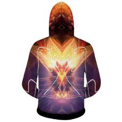 Гаджет   Modish Slimming Hooded 3D Golden Skulls Print Long Sleeve Cotton Blend Hoodie For Men Hoodies