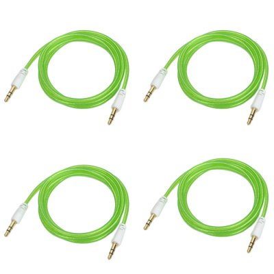 4PCS 3.5mm Male to Male Audio Connection Cable Set