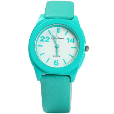 Гаджет   Mitina M246 Ladies Pure Color Japan Quartz Watch with Small Dial Leather Band Women