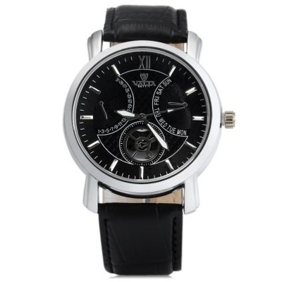 Valia 8611 - 1 Male Leather Band Quartz WatchMens Watches<br>Valia 8611 - 1 Male Leather Band Quartz Watch<br><br>Brand: Valia<br>Watches categories: Male table<br>Watch style: Fashion<br>Available color: Black, White, Brown<br>Movement type: Quartz watch<br>Shape of the dial: Round<br>Display type: Analog<br>Case material: Stainless steel<br>Band material: Leather<br>Clasp type: Pin buckle<br>Special features: Decorating small sub-dials<br>The dial thickness: 1.0 cm / 0.39 inches<br>The dial diameter: 4.5 cm / 1.77 inches<br>The band width: 2.2 cm / 0.86 inches<br>Wearable Length:: 17.5 - 22 cm / 6.89 - 8.66 inches<br>Product weight: 0.057 kg<br>Package weight: 0.107 kg<br>Product size (L x W x H): 25.5 x 4.5 x 1 cm / 10.02 x 1.77 x 0.39 inches<br>Package size (L x W x H): 26.5 x 5.5 x 2 cm / 10.41 x 2.16 x 0.79 inches<br>Package Contents: 1 x Valia 8611 - 1 Watch