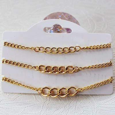 3PCS Simple Solid Color Chain Bracelets