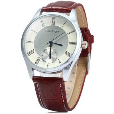 Rosivga 823 Quartz Watch with Leather Band for Men