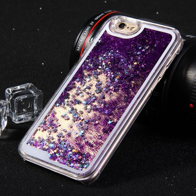 Plastic Back Cover Case Stars Sequins Design for iPhone 6 - 4.7inch