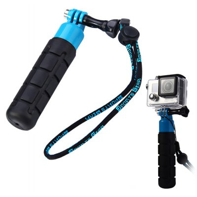 Hand Held Rubber Grip Selfie Stick for Action Camera