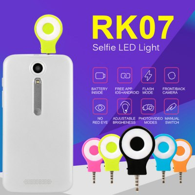 RK07 Selfie LED Light for Smart Phones