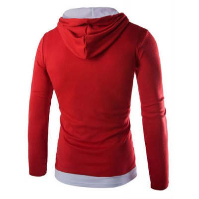 Trendy Slimming Hooded Simple Color Block Splicing Long Sleeve Cotton Blend Hoodie For MenMens Hoodies &amp; Sweatshirts<br>Trendy Slimming Hooded Simple Color Block Splicing Long Sleeve Cotton Blend Hoodie For Men<br><br>Material: Polyester, Cotton<br>Clothing Length: Regular<br>Sleeve Length: Full<br>Style: Fashion<br>Weight: 0.420KG<br>Package Contents: 1 x Hoodie
