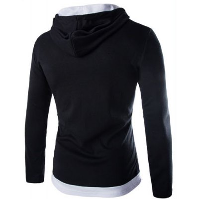 Trendy Slimming Hooded Simple Color Block Splicing Long Sleeve Cotton Blend Hoodie For MenMens Hoodies &amp; Sweatshirts<br>Trendy Slimming Hooded Simple Color Block Splicing Long Sleeve Cotton Blend Hoodie For Men<br><br>Material: Cotton, Polyester<br>Clothing Length: Regular<br>Sleeve Length: Full<br>Style: Fashion<br>Weight: 0.420KG<br>Package Contents: 1 x Hoodie