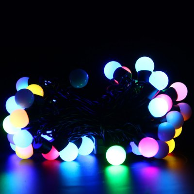 5m Christmas LED Ball StringLED Strips<br>5m Christmas LED Ball String<br><br>Brand: BRELONG<br>Type: LED String<br>Features: Low Power Consumption<br>Length: 5m<br>Number of LEDs: 50<br>Optional Light Color: White,Warm White,RGB<br>Connector type: EU plug<br>Input Voltage: AC220<br>Product weight: 0.264 kg<br>Package weight: 0.349 kg<br>Product size (L x W x H): 15 x 7 x 10 cm / 5.90 x 2.75 x 3.93 inches<br>Package size (L x W x H): 16 x 8 x 11 cm / 6.29 x 3.14 x 4.32 inches<br>Package Contents: 1 x BRELONG LED String Light
