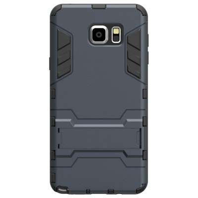 Shaftstop Mesharmor Series Space Design TPU PC Phone Back Cover Case Mount Stand Two-in-one for Samsung Note 5