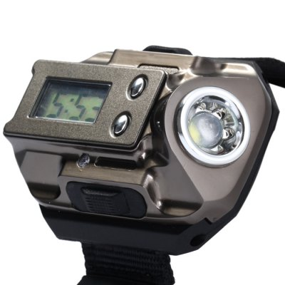 Гаджет   LED Flashlight Watch SOS Compass Wristwatch USB Charging with Date Function Canvas Band LED Watches