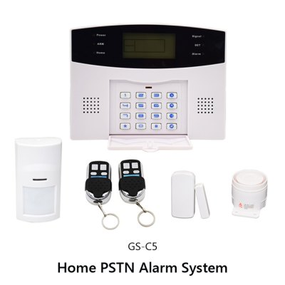 Фотография GS - C5 LCD Display PSTN Home Alarm System with Built - in Clock