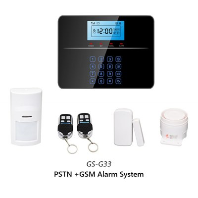 Фотография GS - G33 PSTN / GSM Home Quad - band Alarm System with Blue Backlighting LCD Display