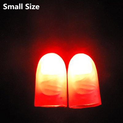 2Pcs Creative Thumb Tip Finger Magic Light