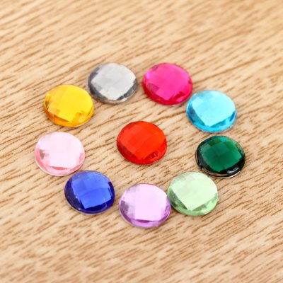 Gemstone Style Home Button Key Cover Sticker 10Pcs Random Color for iPhone 6S / 6 Plus 5S 5 iPad iPod Touch