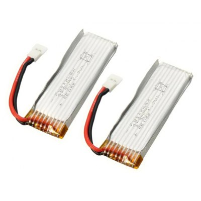 2Pcs Extra Spare 3.7V 450mAh Battery for XK K110 Remote Control Helicopter