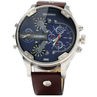 Гаджет   Cagarny 6820 Male Quartz Watch Men