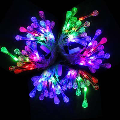 BRELONG 4M Water Drop String LightLED Strips<br>BRELONG 4M Water Drop String Light<br><br>Brand: Brelong<br>Type: LED String<br>Connector Type: EU Plug<br>Light Color: RGB<br>Voltage (V): AC220<br>Output Power(W): 2W<br>Features: Low Power Consumption<br>Length (m): 4<br>Number of LEDs: 20<br>Product weight: 0.223 kg<br>Package weight: 0.263 kg<br>Product size (L x W x H): 13 x 12 x 3 cm / 5.11 x 4.72 x 1.18 inches<br>Package size (L x W x H): 14 x 13 x 4 cm / 5.50 x 5.11 x 1.57 inches<br>Package Contents: 1 x BRELONG LED String Light